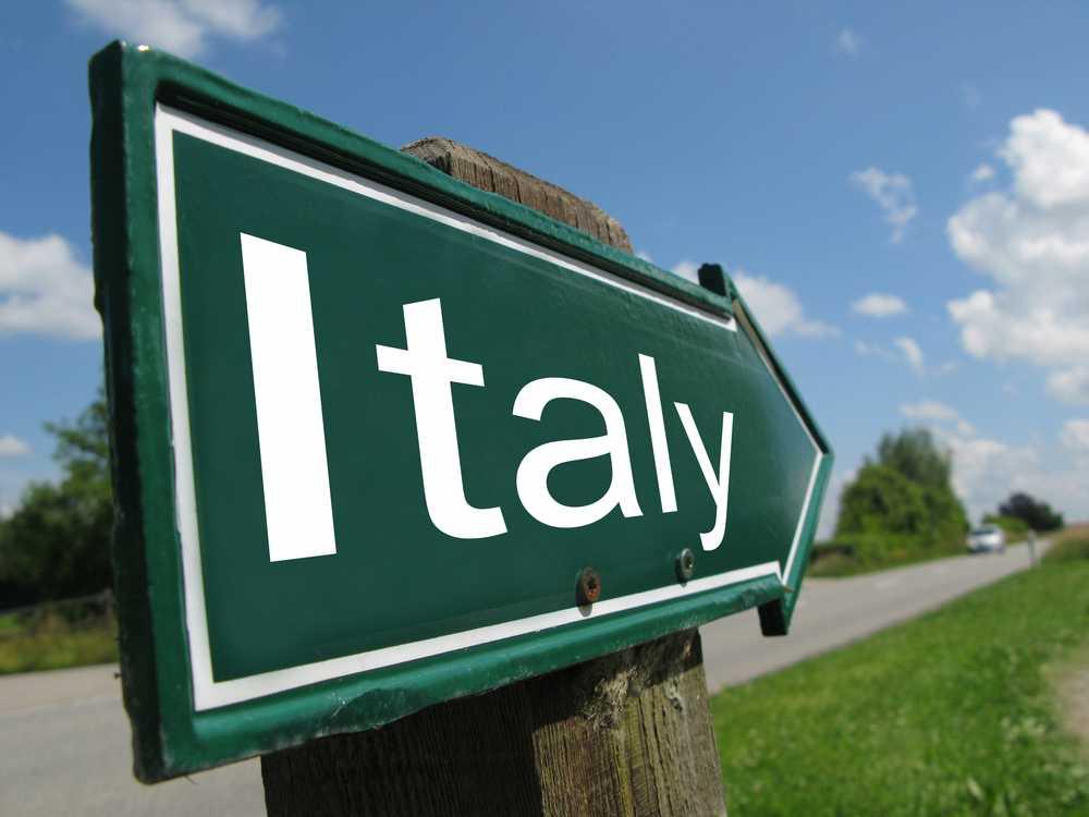 שלט ITALY